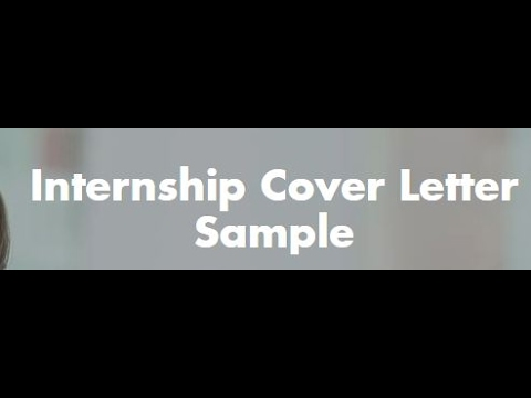 How To Write Internship Cover Letter?? - Youtube