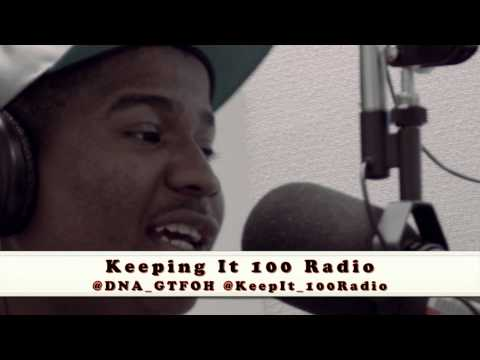"DNA's Freestyle turns into a battle ""Keeping It 100"" Radio @ Brooklyn College"