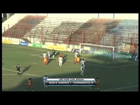 Gol de Víctor Galarza. Boca Unidos 1 Sarmiento 0.Fecha 35.Torneo Primera B Nacional.FPT
