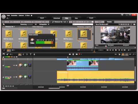 Audiomix in Pinnacle Studio 16 und 17 Video 73 von 114