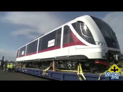 Arribo del primer tren para la Línea 3 a Veracruz