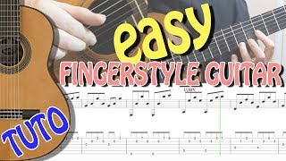 EASY TUTO : ARPEGGIO MELODIC FOR STUDENTS - FINGERSTYLE GUITAR