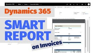 Smart Reports for Dynamics CRM 365 - Invoices