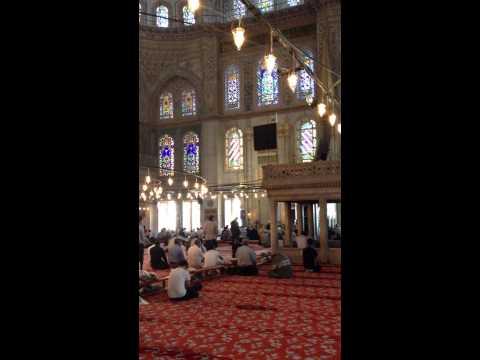 Quran recitation in Istanbul's Blue Mosque