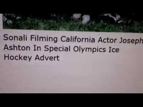 Sonali Filming California Actor Joseph Ashton In Special Olympics Ice Hockey Advert