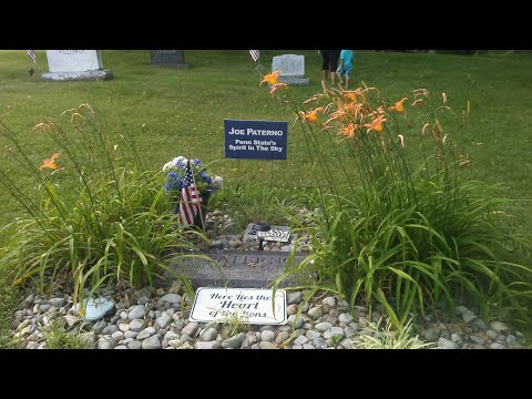 The grave of disgraced coach joe paterno