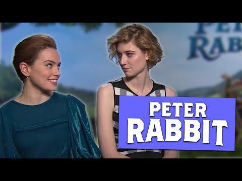 Daisy Ridley and Elizabeth Debicki talk Peter Rabbit!