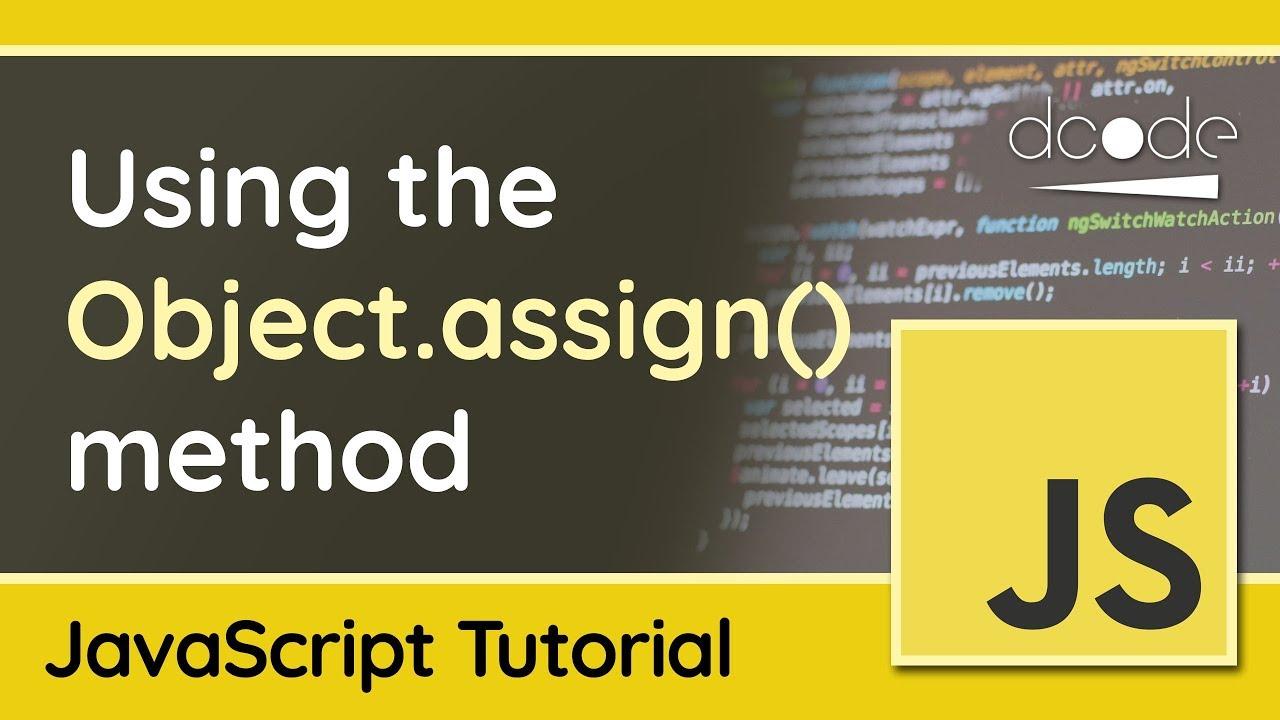 javascript object assign