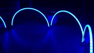 RGB WS2811 LED Pixel Leaping Arches using Transparent Air Seeder Tubing