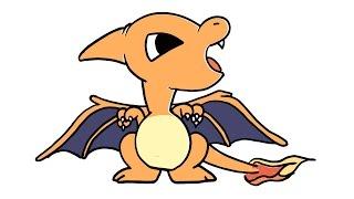 How to draw Cute Charizard Pokémon