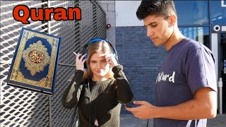 PLAYING QURAN For PUBLIC UK 2018! قورئان لێدان بۆ خهڵكی كاردانهوهیان