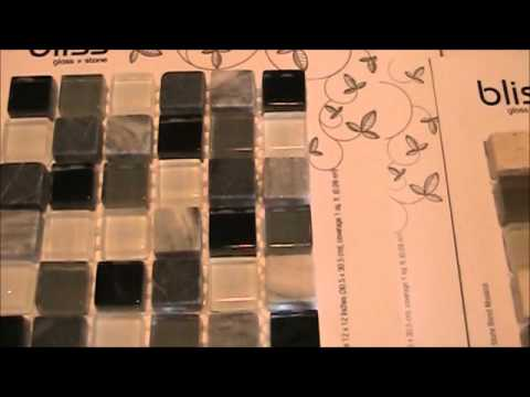 kitchen glass backsplash cleaner bliss and stone mosaic tile - youtube