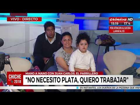 """El parrillero Juan Carlos: """"Gracias a mi puesto, viven 6 familias"""""""