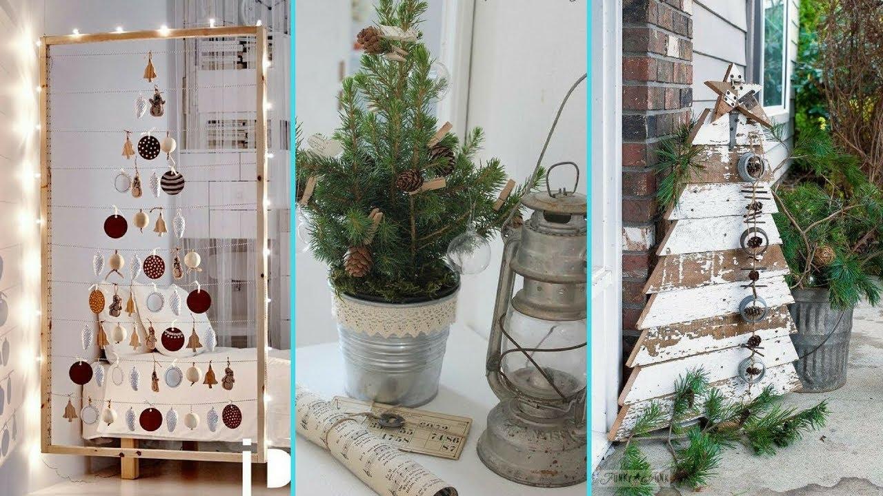 diy chic style small space christmas tree decor ideas christmas home decor flamingo mango