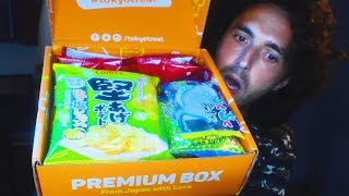 HUGE JAPANESE CANDY HAUL Taste Testing! TOKYO TREAT SNACK BOX  Mukbang  Nomnomsammieboy