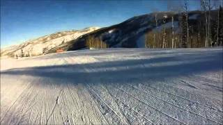 Skiing Vagabond at Steamboat Springs