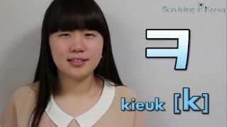 SIK: Aprendendo Coreano: Lição 2 : Vogais Combinadad e Consoanantes (Leitura e Pronúncia)