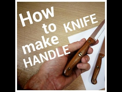 DIY How to make wooden knife handle