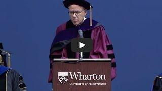 David Rubenstein: 2014 Wharton MBA Commencement