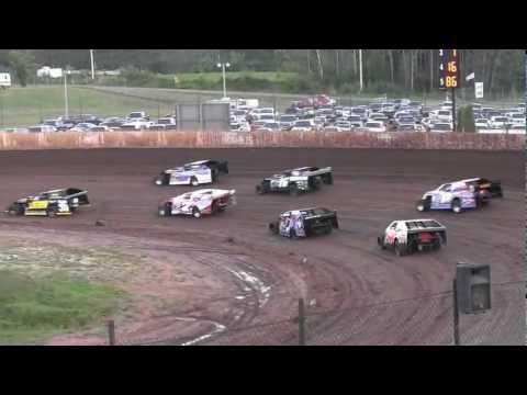 USMTS @ Rice Lake Speedway Hunt Race #6  Heat#1---8-16-2012