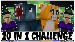 10 IN 1 CHALLENGE! - THE BATTLE! [4] - Minecraft Custom Map W/Stampy!
