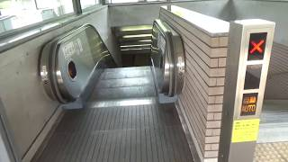 京都市営地下鉄国際会館駅のエスカレーター1【逆走防止ブザー】