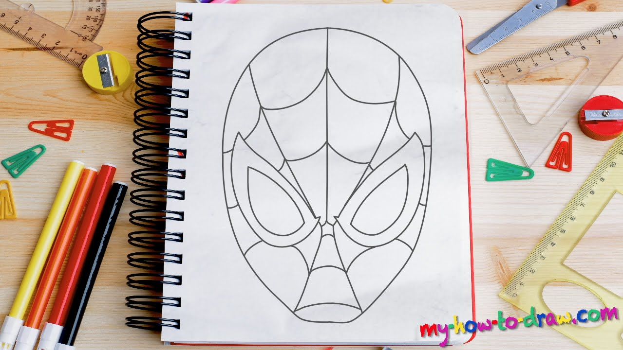 How To Draw Spiderman Easy Step By Step Drawing Lessons For Kids