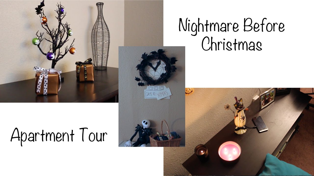 Nightmare Before Christmas Decor and Apartment Tour 2015 - YouTube