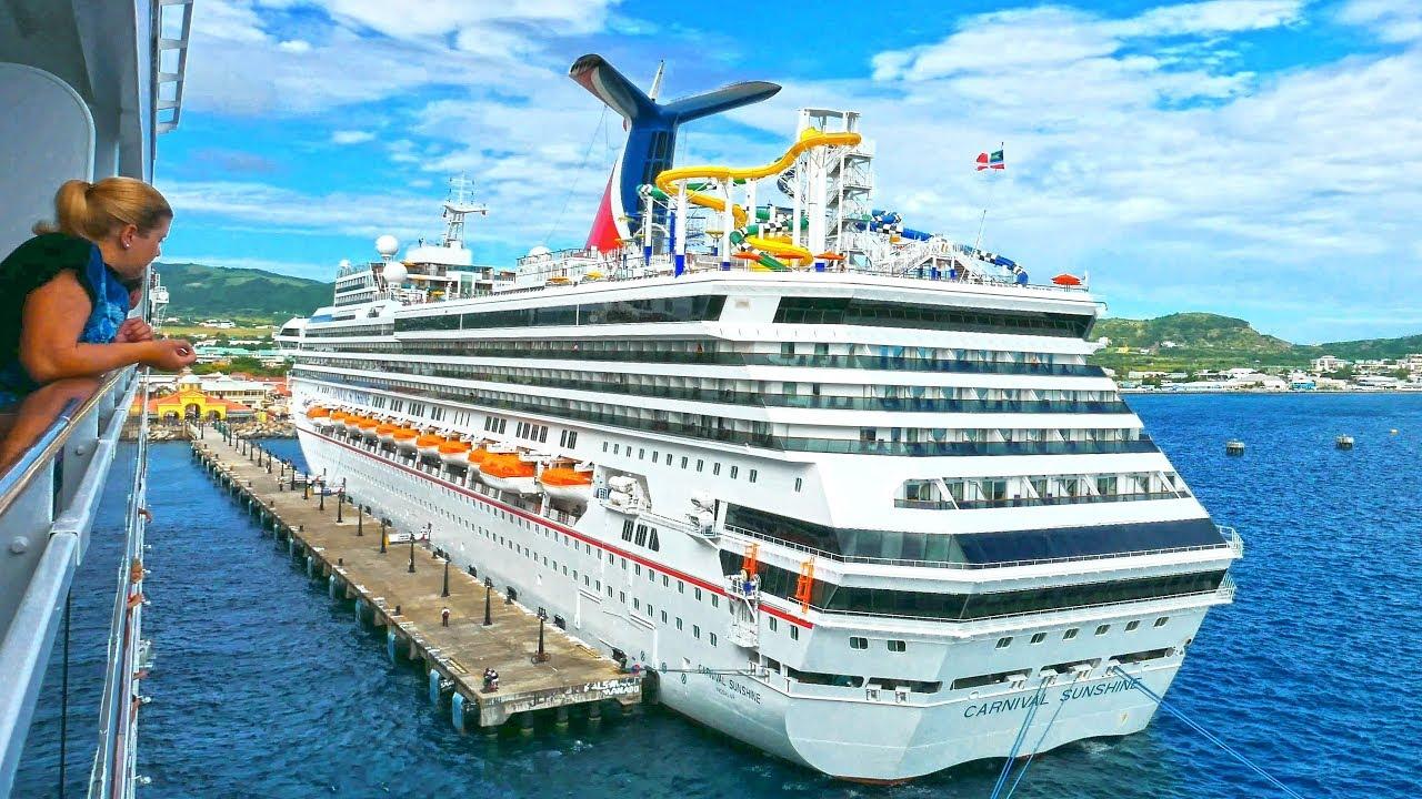 Caribbean St. Kitts - Cruise Ships MSC And Carnival Sunshine Port Basseterre 4K 2017 Timelapse ...