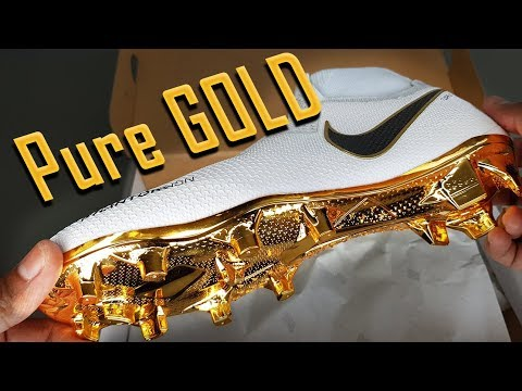 Nike Phantom VSN Unboxing and Impressions   Nike Control Football Boots Limited White Gold Colourway