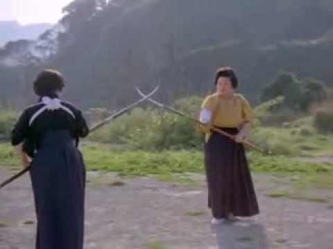 Japanese women practicing naginata-jutsu