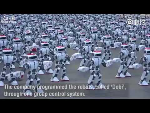 1,069 dancing robots break Guinness World Record in south China