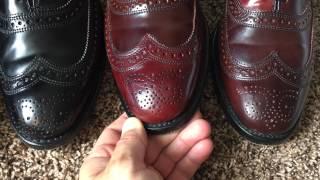 Allen Edmonds Cambridge shell cordovan wingtip balmoral dress shoe