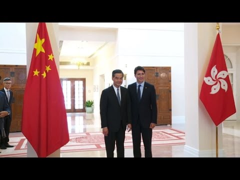 Canadian Prime Minister meets with Hong Kong Chief Executive