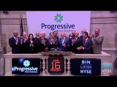 Progressive Waste Solutions Ltd. Celebrates Five-Year Anniversary of Trading on the NYSE