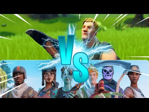 One Default, Two squads Who Will Win? - Fortnite Battle royale