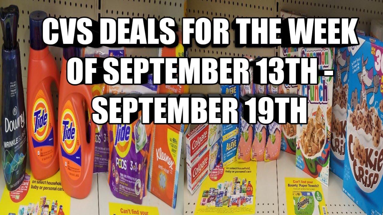 Cvs Deals For The Week Of September 13th September 19th Youtube