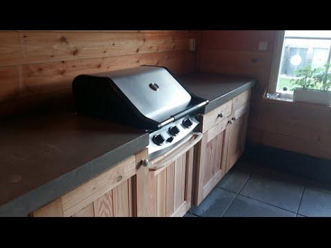 Genoeg Ik bouw mijn buitenkeuken zelf - DIY concrete countertop - garten @VU25