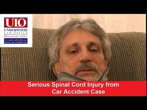 Car accident spinal cord injury video by Mark Underwood, Esq,.