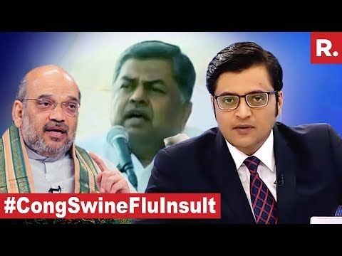 Congress MPs Illness Curse On Amit Shah | The Debate With Arnab Goswami