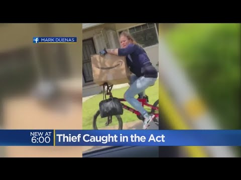 Man Taunts Suspected Porch Pirate As She Rides With Neighbor's Package