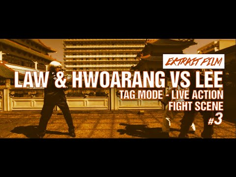FIGHT SCENE 3 / Law & Hwoarang VS Lee - Tag mode - Live Action / Kefi Abrikh