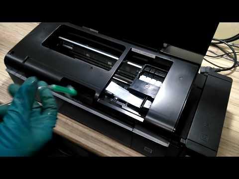 Как почистить головки принтера epson l800