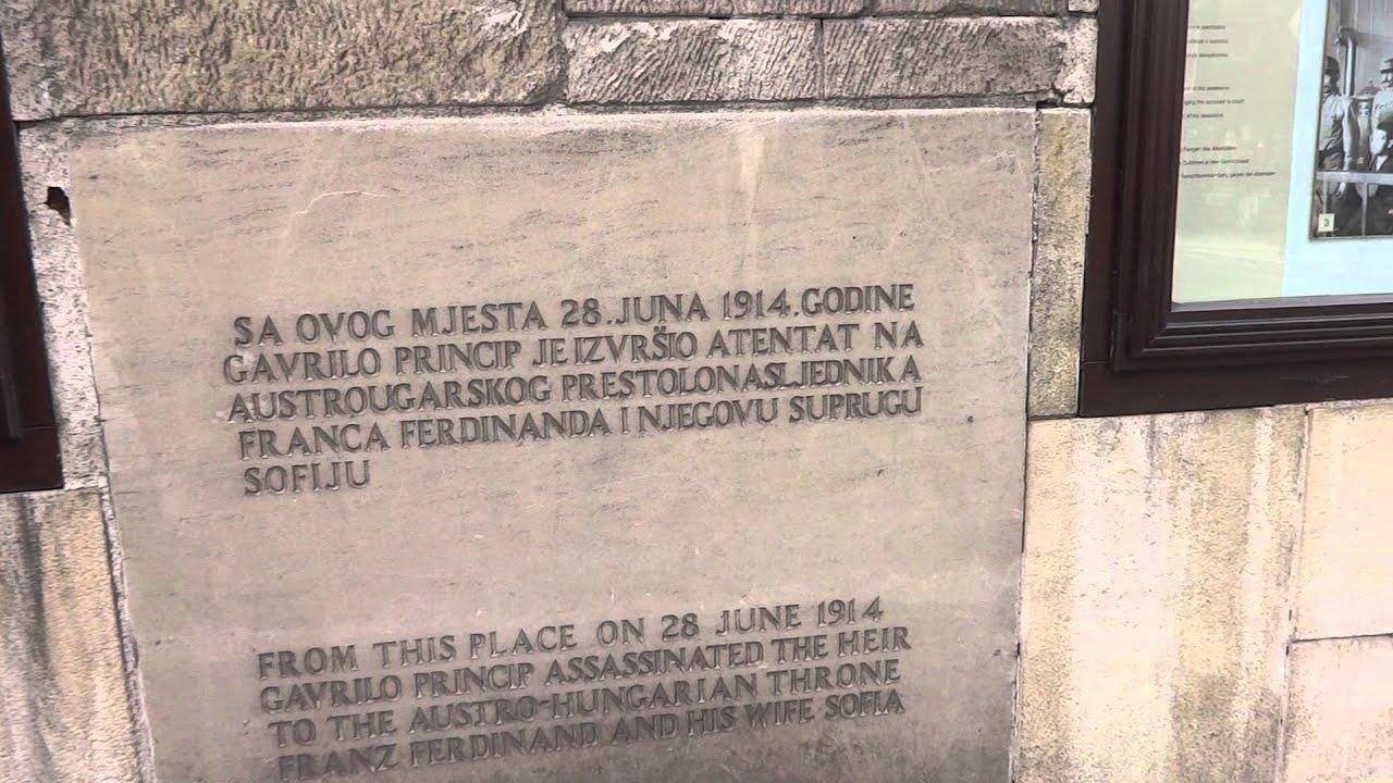 Franz Ferdinand Assassination Location In Sarajevo Youtube