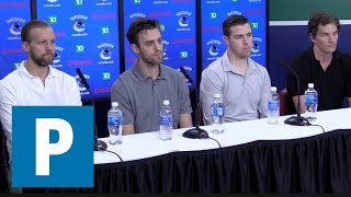 Canucks: Team's older players face media   The Province