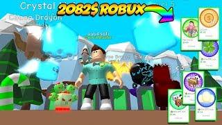 2062' ROBUX HARCADIM VE EFSANE BUZ PETLER/ Bubble Gum Simulator #5 / Roblox Türké