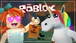 """UNICORN COSTUME!"" | Roblox - Trick or Treat in Hallowsville | Part 2 | Marielitai Gaming"