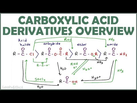 Carboxylic Acid Derivatives Overview and Reaction Map