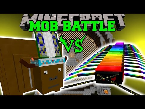 CHIEF THUNDERHOOVES VS RAINBOW CENTIPEDE - Minecraft Mob Battles - Minecraft Mods