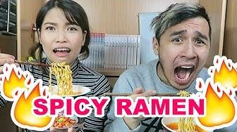 Super Spicy Korean Ramen Challenge (GONE WRONG!) | Deutsch
